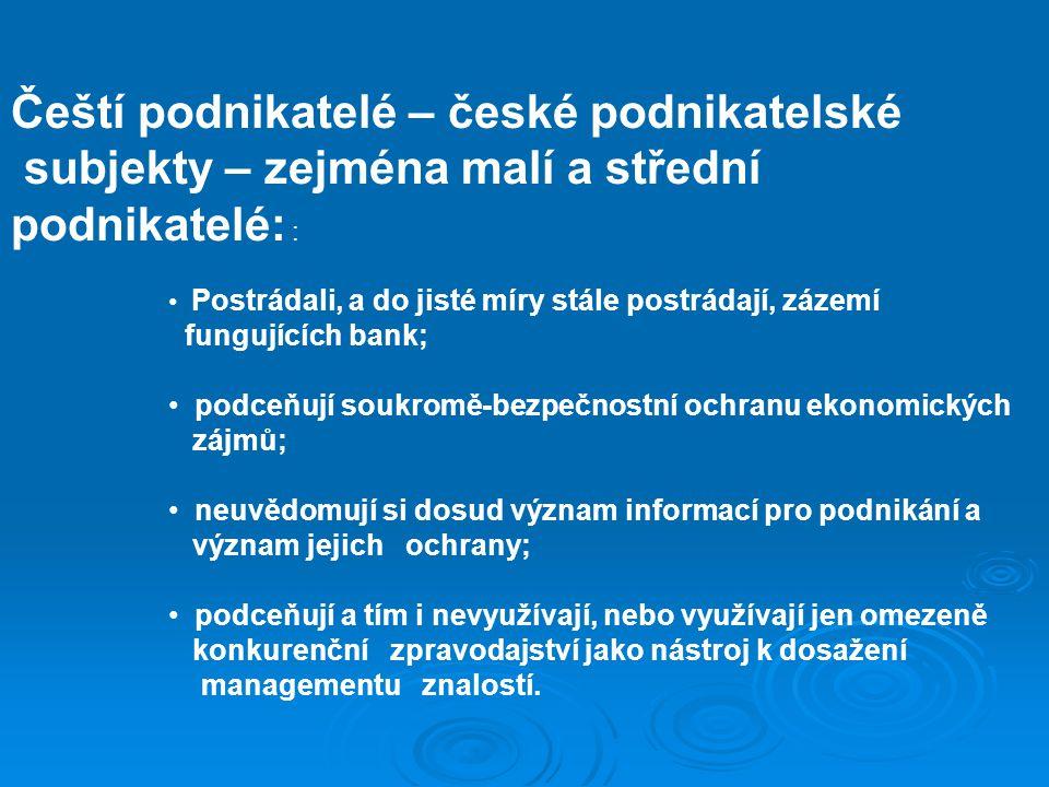 Čeští podnikatelé – české podnikatelské