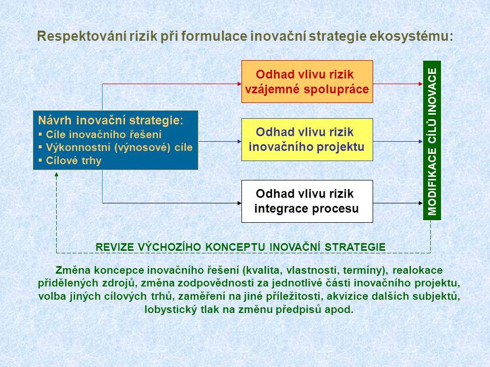 Respektování rizik při formulace inovační strategie ekosystému: