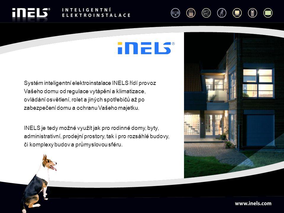 Systém inteligentní elektroinstalace INELS řídí provoz Vašeho domu od regulace vytápění a klimatizace, ovládání osvětlení, rolet a jiných spotřebičů až po zabezpečení domu a ochranu Vašeho majetku.