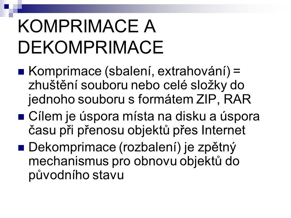 KOMPRIMACE A DEKOMPRIMACE