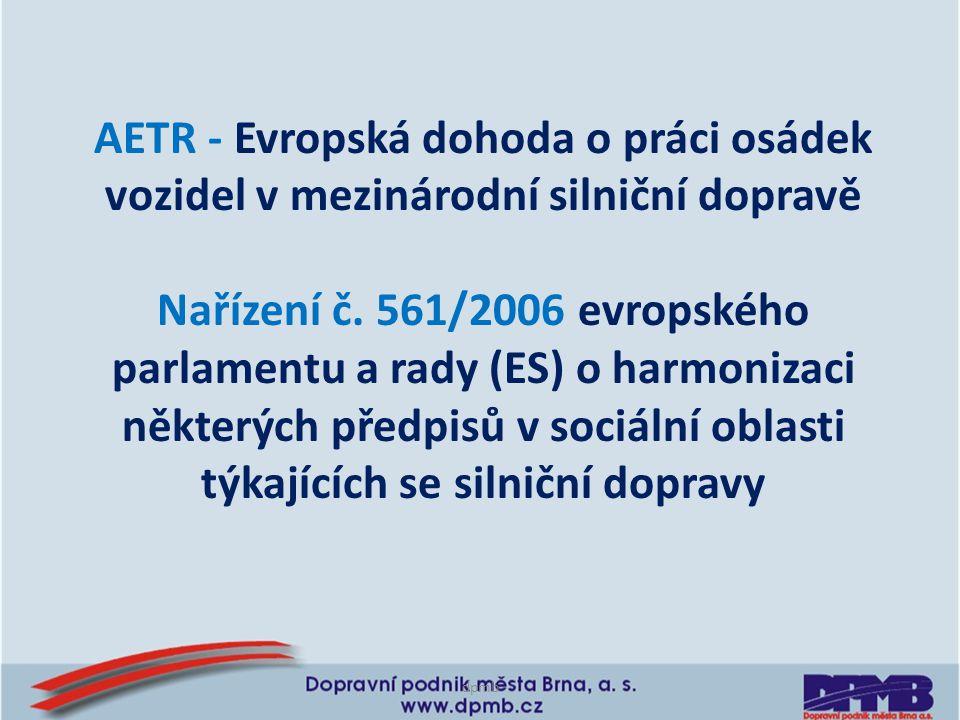 AETR - Evropská dohoda o práci osádek vozidel v mezinárodní silniční dopravě