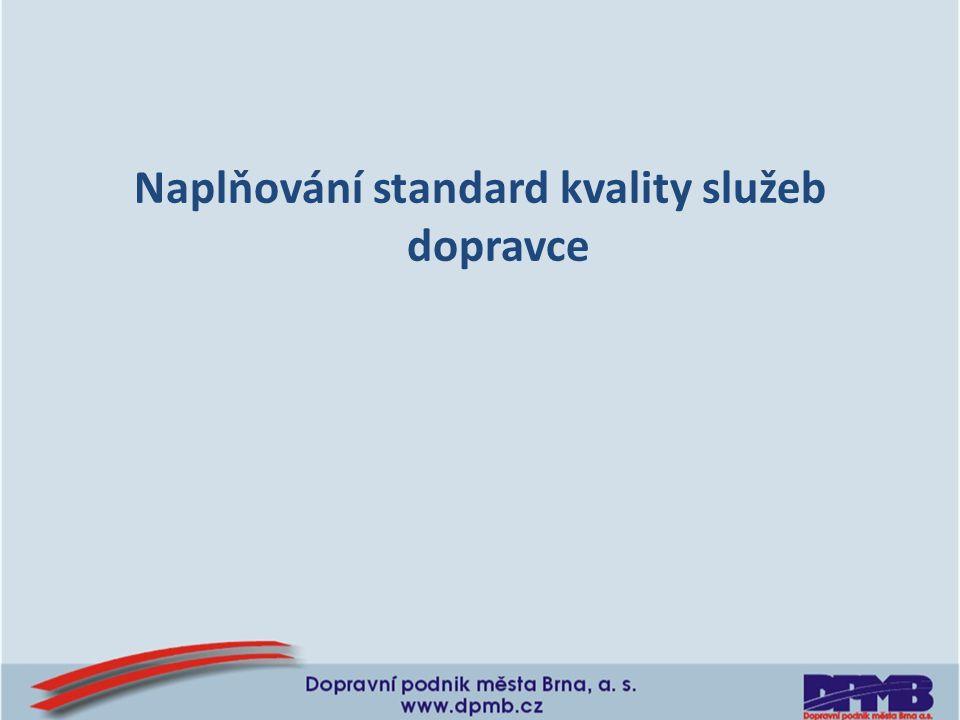 Naplňování standard kvality služeb dopravce