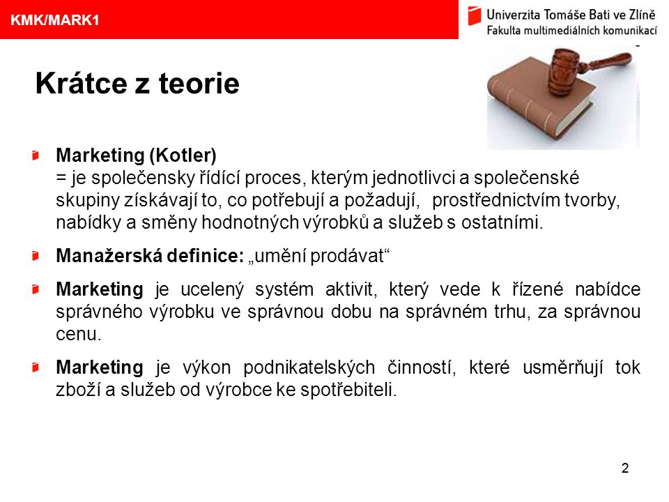 Krátce z teorie Marketing (Kotler)