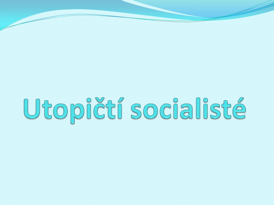 Utopičtí socialisté