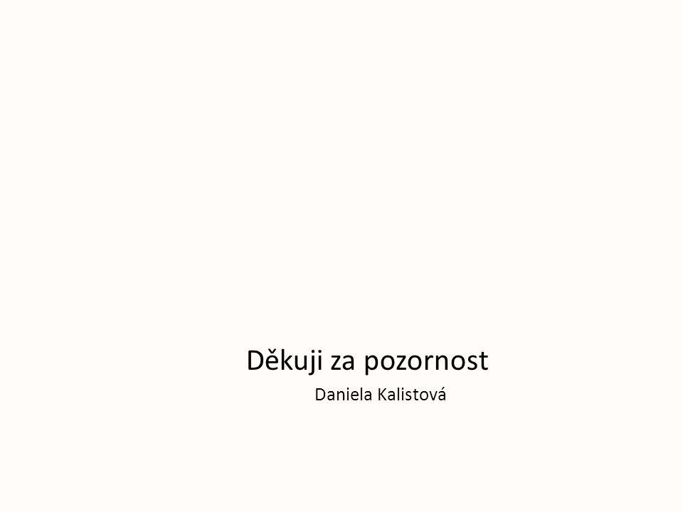 Děkuji za pozornost Daniela Kalistová
