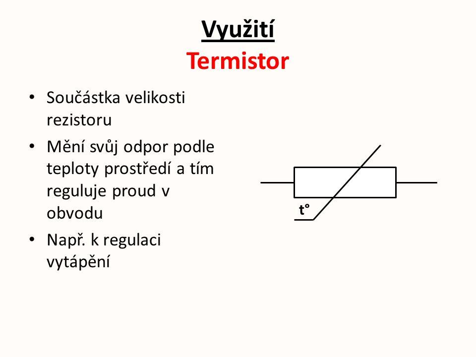 Využití Termistor Součástka velikosti rezistoru