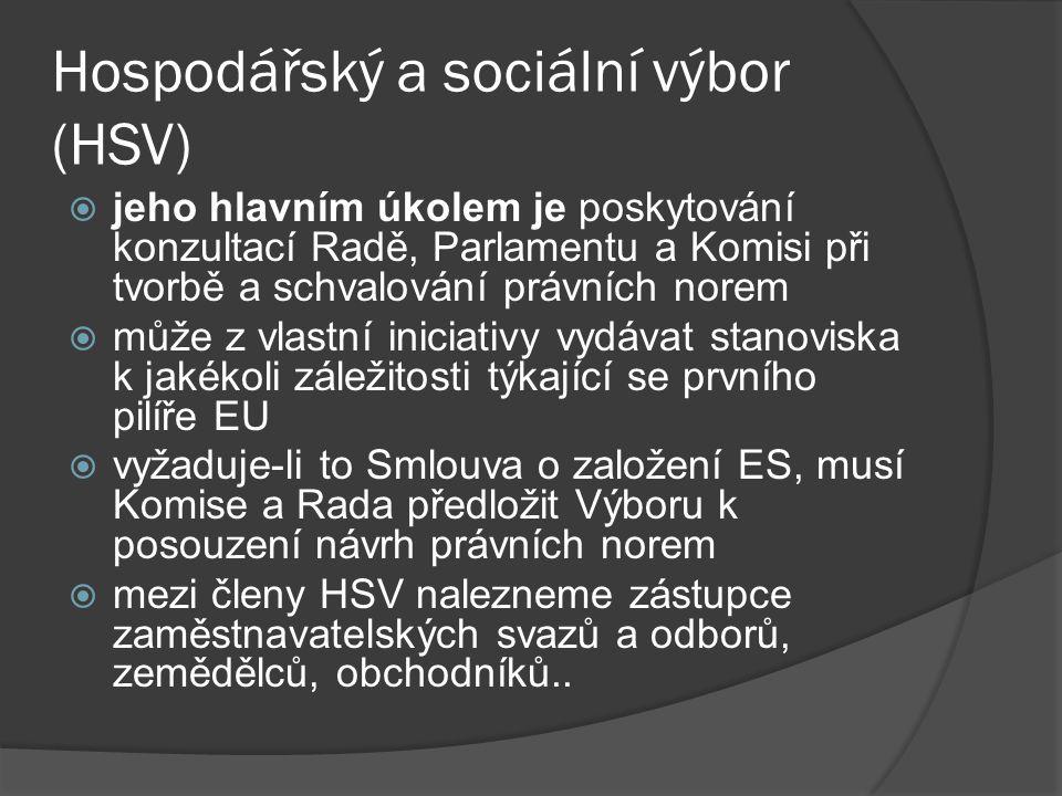 Hospodářský a sociální výbor (HSV)