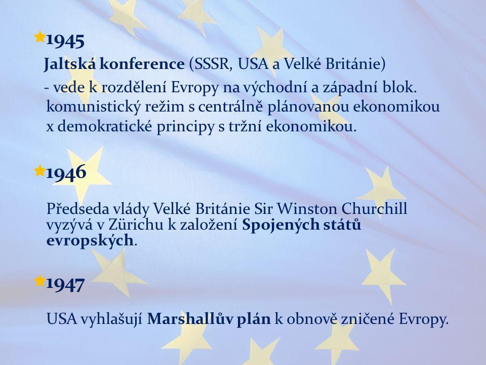 1945 1946 1947 Jaltská konference (SSSR, USA a Velké Británie)
