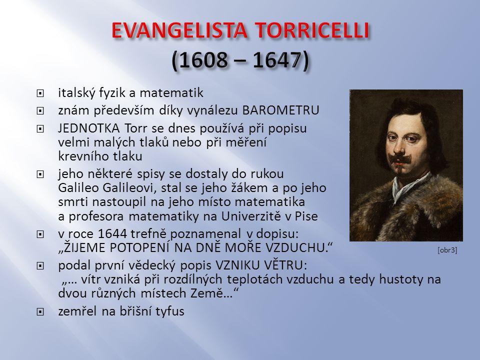 EVANGELISTA TORRICELLI (1608 – 1647)