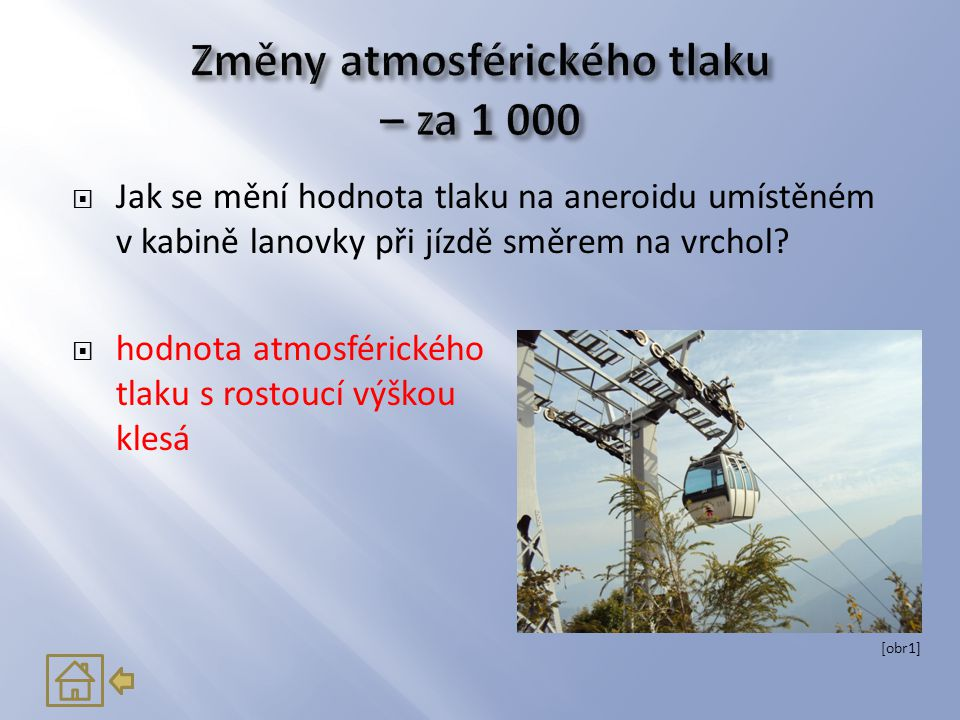 Změny atmosférického tlaku – za 1 000