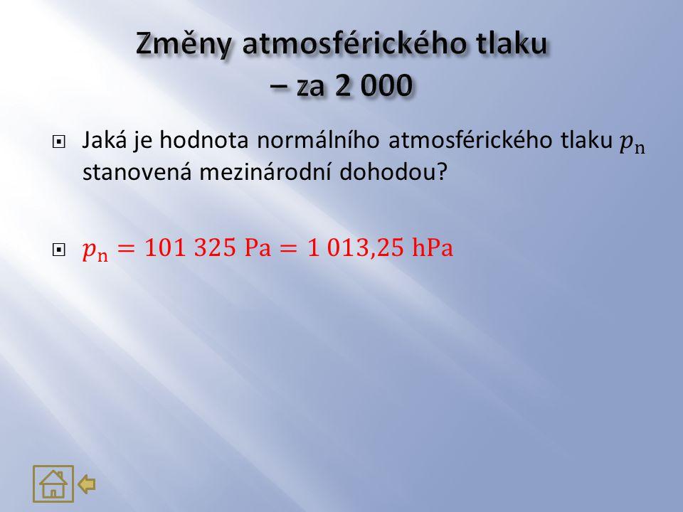 Změny atmosférického tlaku – za 2 000