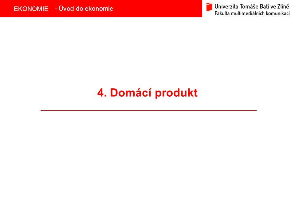 - Úvod do ekonomie 4. Domácí produkt