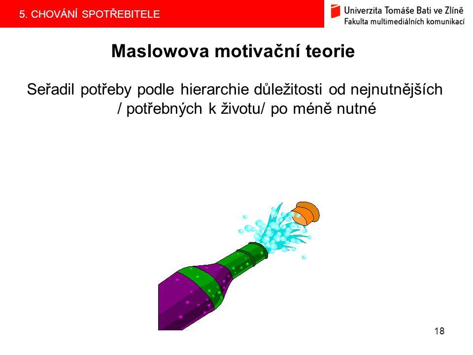 Maslowova motivační teorie
