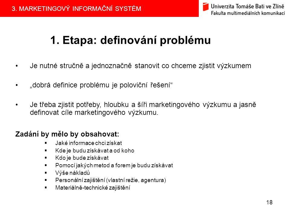 1. Etapa: definování problému