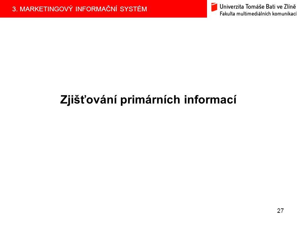 Zjišťování primárních informací