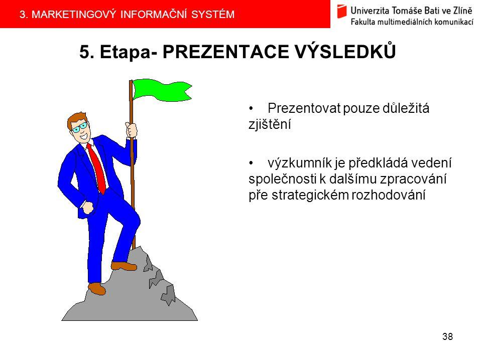 5. Etapa- PREZENTACE VÝSLEDKŮ