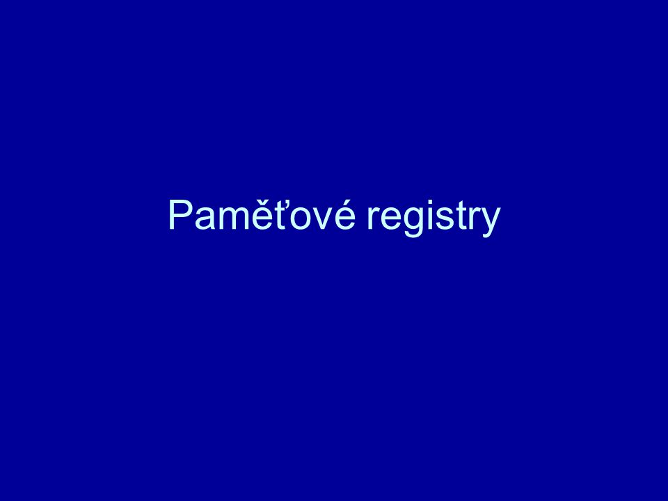 Paměťové registry