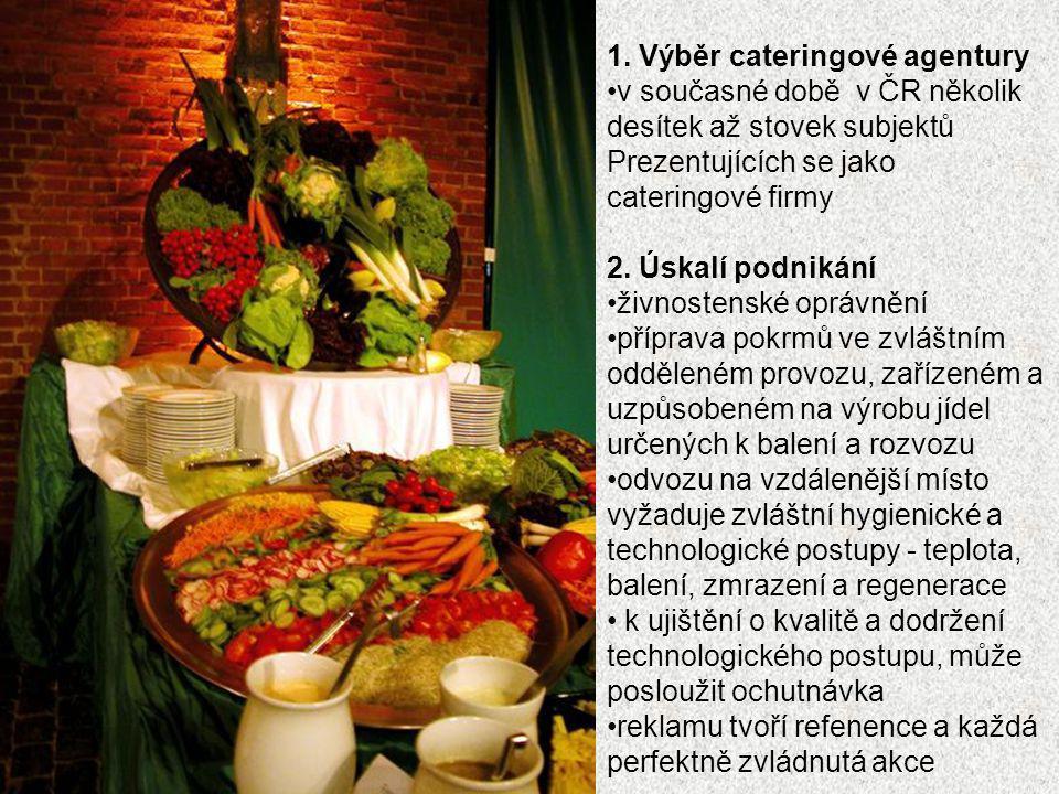 1. Výběr cateringové agentury