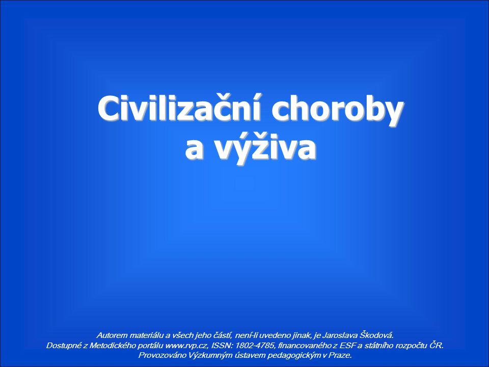 Civilizační choroby a výživa
