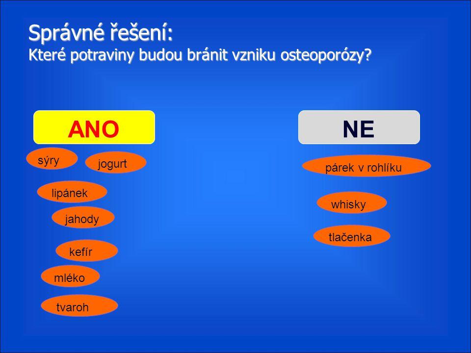 Správné řešení: Které potraviny budou bránit vzniku osteoporózy
