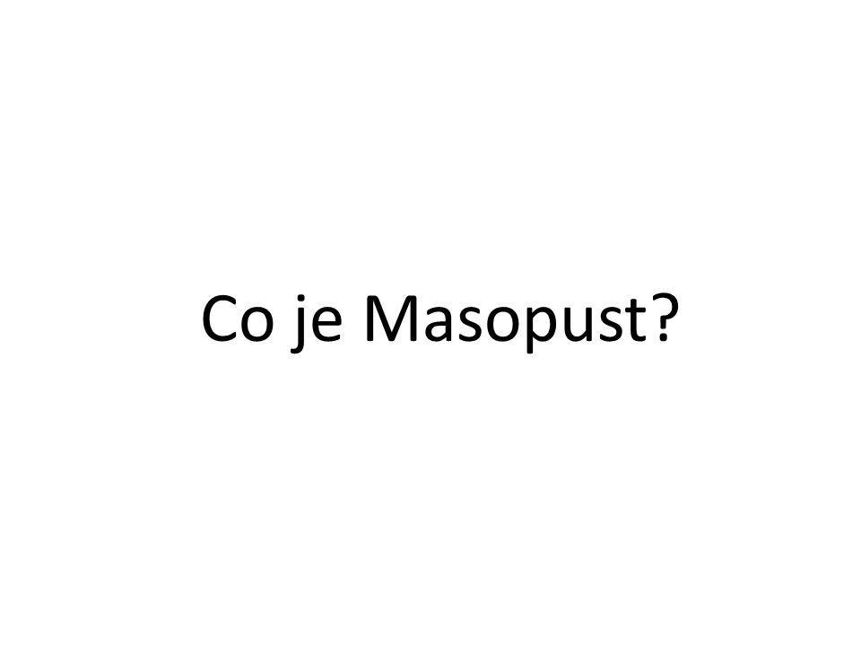 Co je Masopust