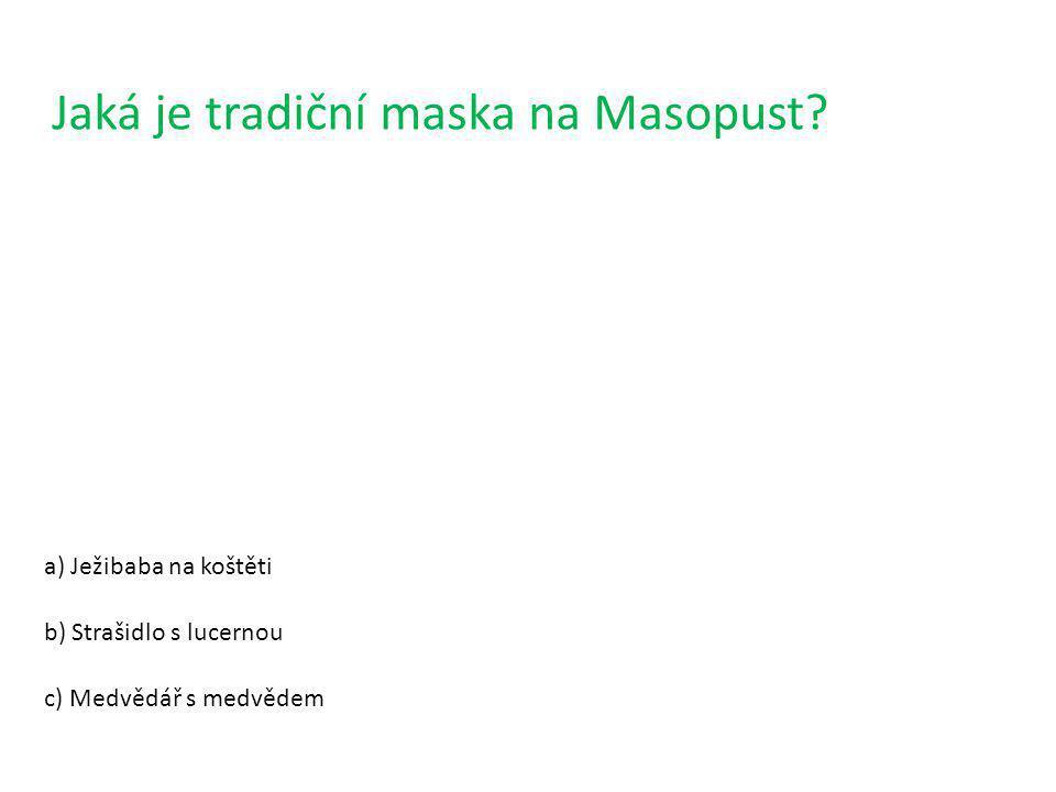 Jaká je tradiční maska na Masopust