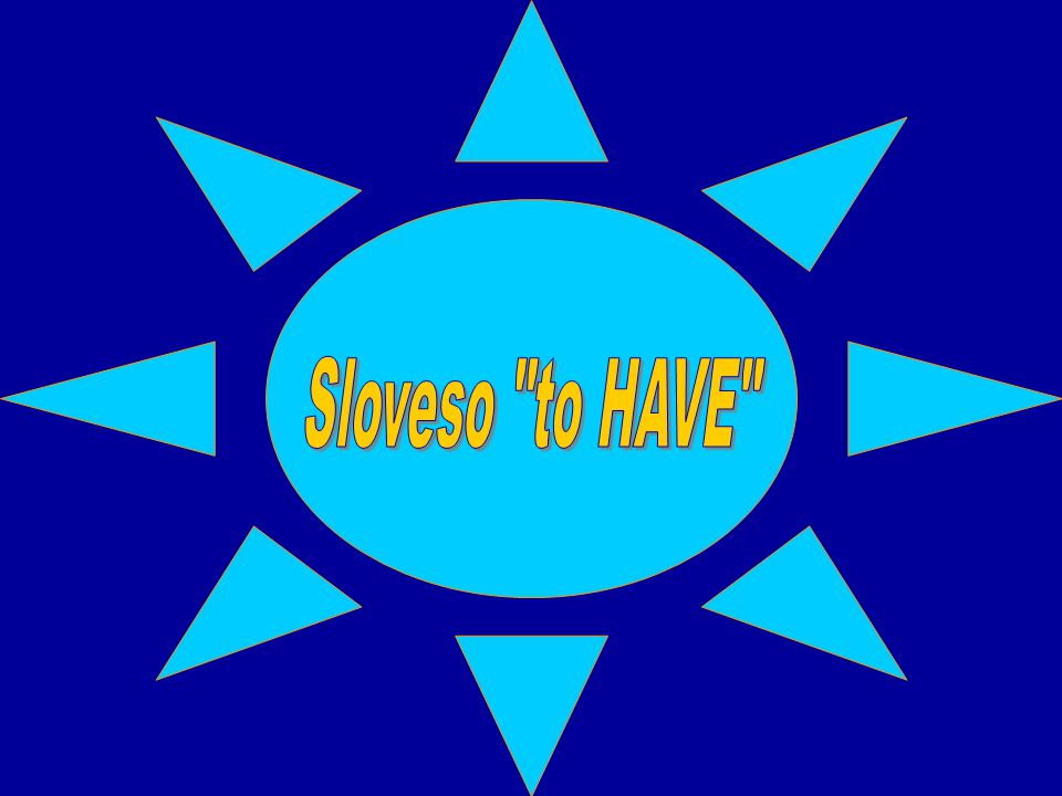 Sloveso to HAVE