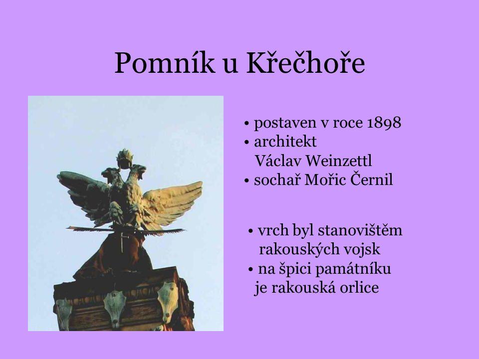 Pomník u Křečhoře postaven v roce 1898 architekt Václav Weinzettl