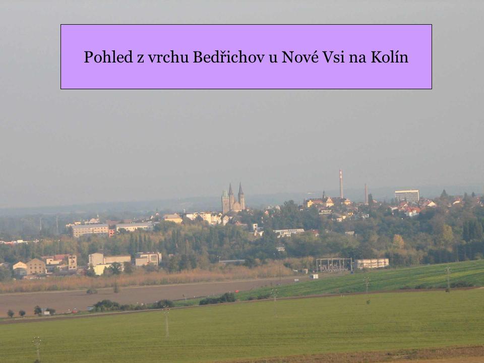 Pohled z vrchu Bedřichov u Nové Vsi na Kolín