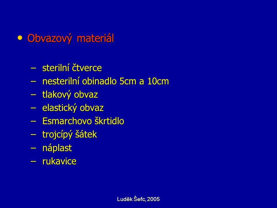 Obvazový materiál sterilní čtverce nesterilní obinadlo 5cm a 10cm