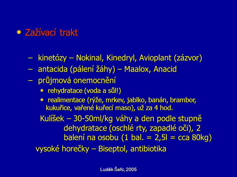 Zažívací trakt kinetózy – Nokinal, Kinedryl, Avioplant (zázvor)