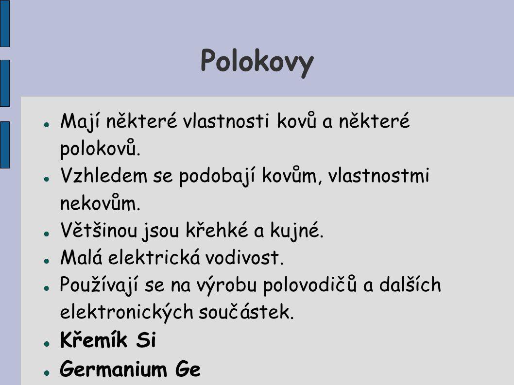 Polokovy Křemík Si Germanium Ge