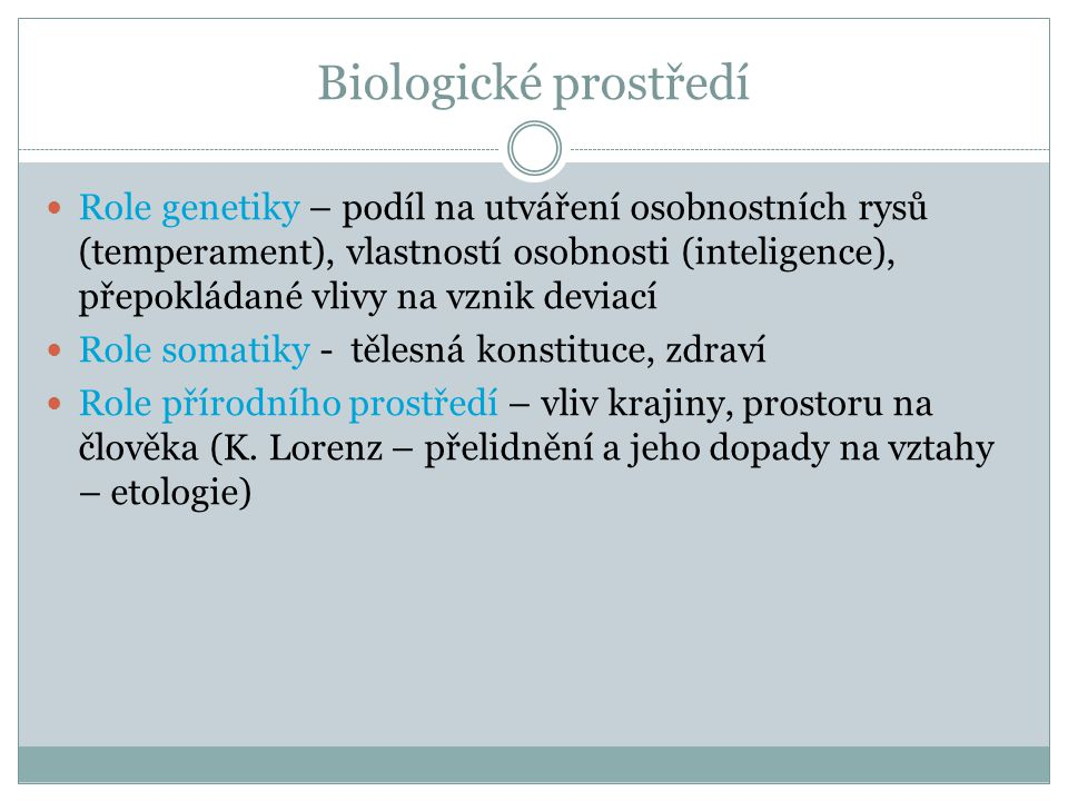 Biologické prostředí