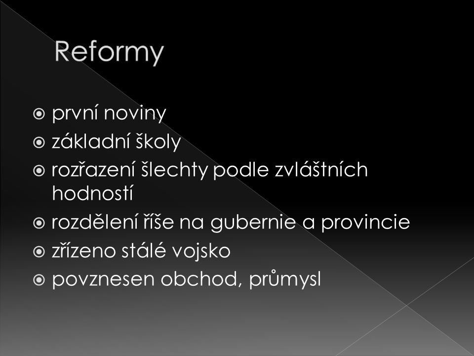 Reformy první noviny základní školy