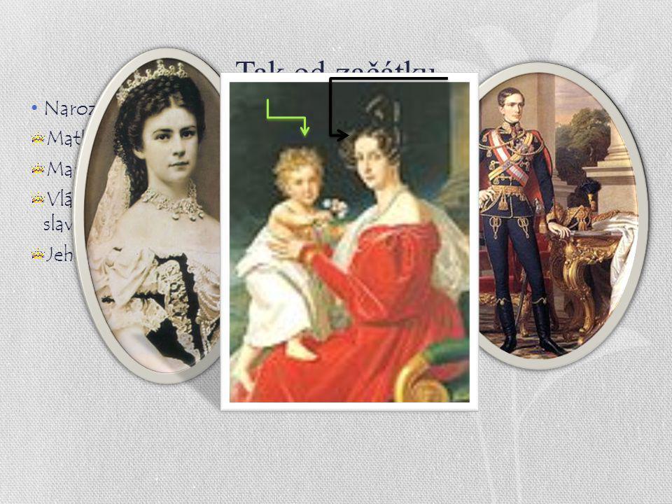 Tak od začátku Narození : 18. srpna 1830 zámek Schönbrunn.