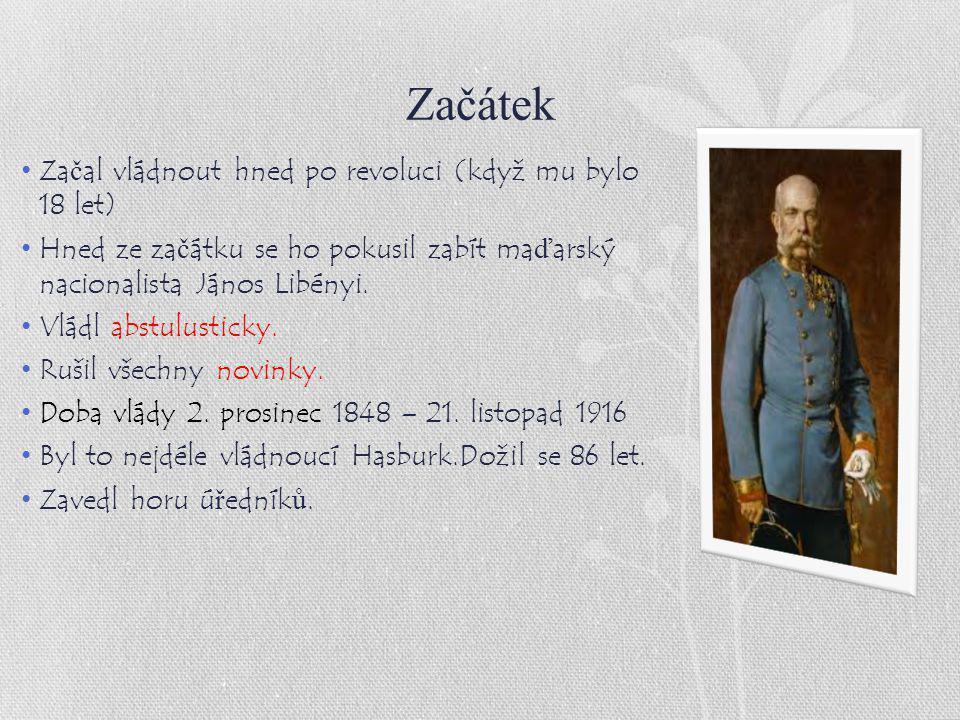 Začátek Začal vládnout hned po revoluci (když mu bylo 18 let)