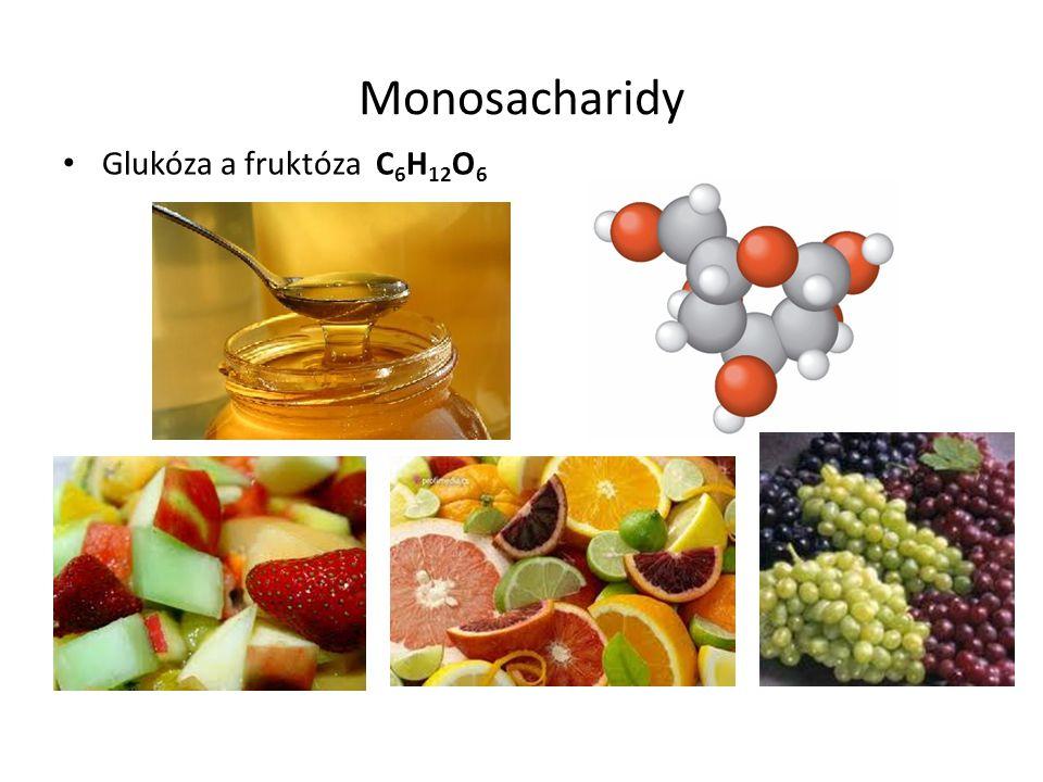 Monosacharidy Glukóza a fruktóza C6H12O6
