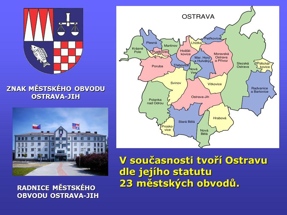 V současnosti tvoří Ostravu dle jejího statutu 23 městských obvodů.