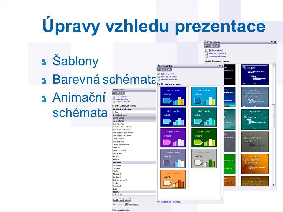 Úpravy vzhledu prezentace