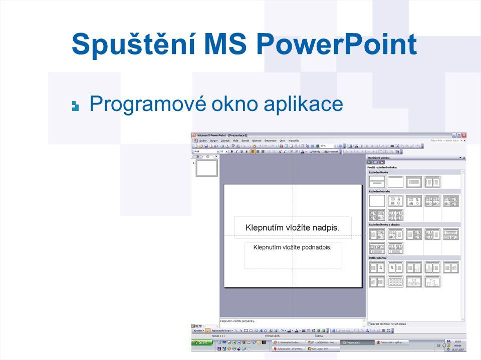 Spuštění MS PowerPoint