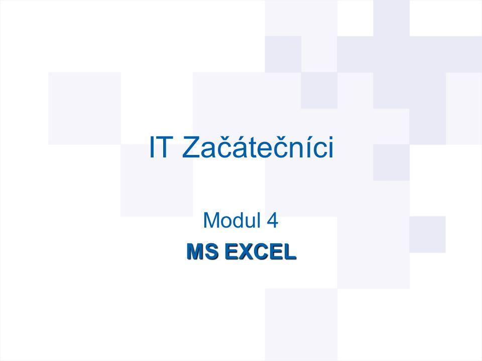 IT Začátečníci Modul 4 MS EXCEL