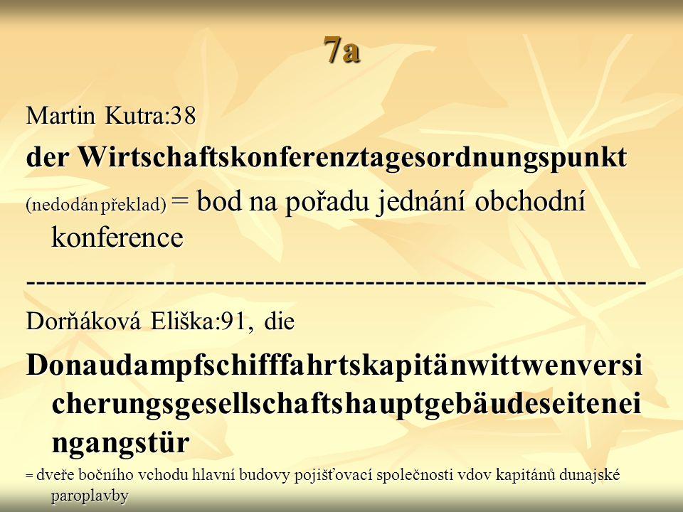 7a Martin Kutra:38. der Wirtschaftskonferenztagesordnungspunkt. (nedodán překlad) = bod na pořadu jednání obchodní konference.