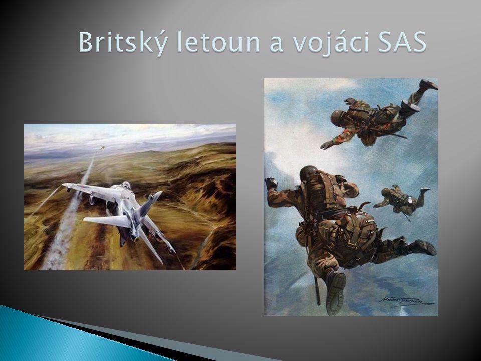Britský letoun a vojáci SAS
