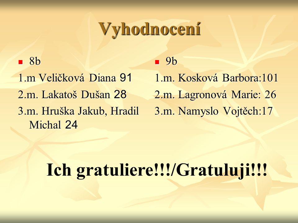 Ich gratuliere!!!/Gratuluji!!!
