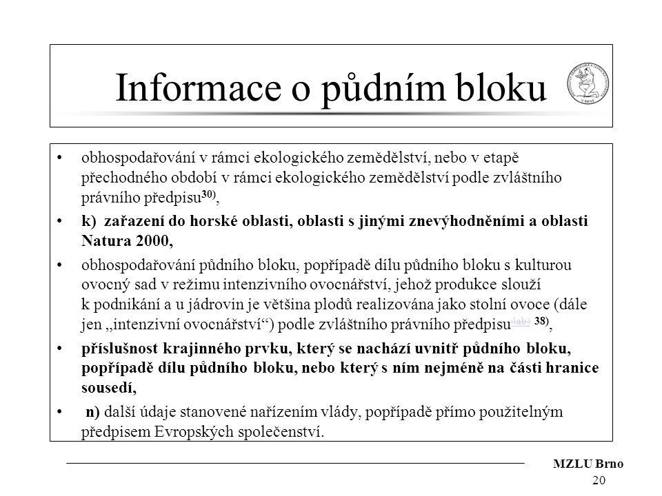 Informace o půdním bloku