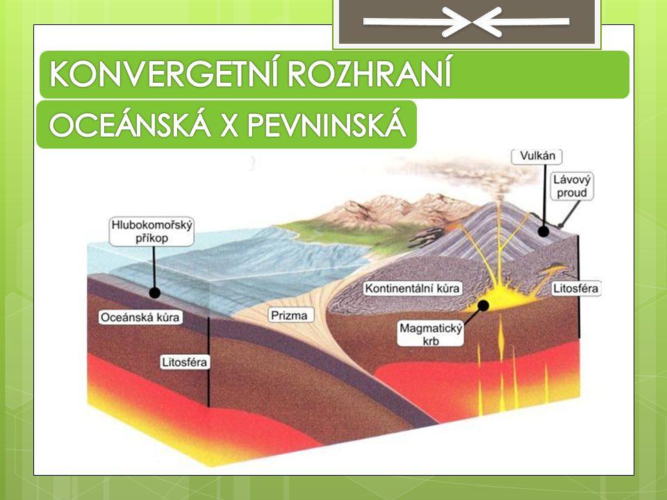 KONVERGETNÍ ROZHRANÍ OCEÁNSKÁ X PEVNINSKÁ