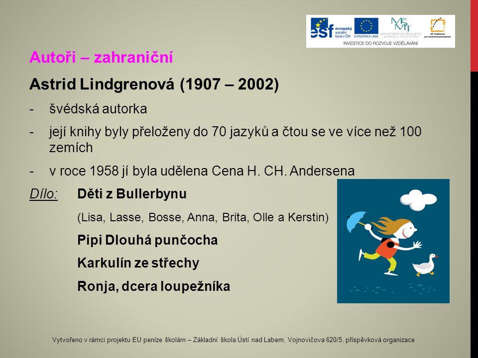 Astrid Lindgrenová (1907 – 2002)