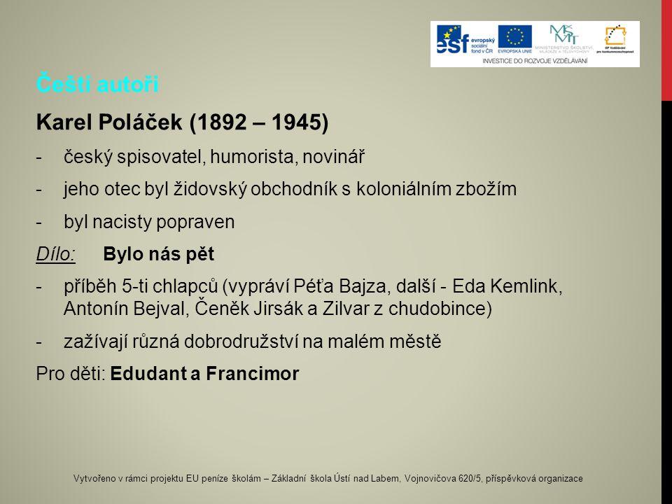 Čeští autoři Karel Poláček (1892 – 1945)