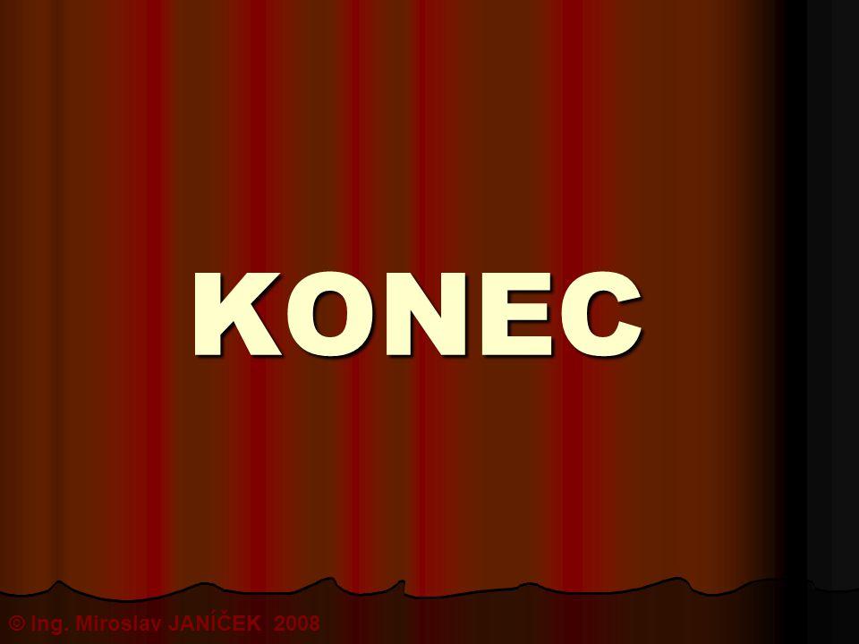 KONEC © Ing. Miroslav JANÍČEK 2008