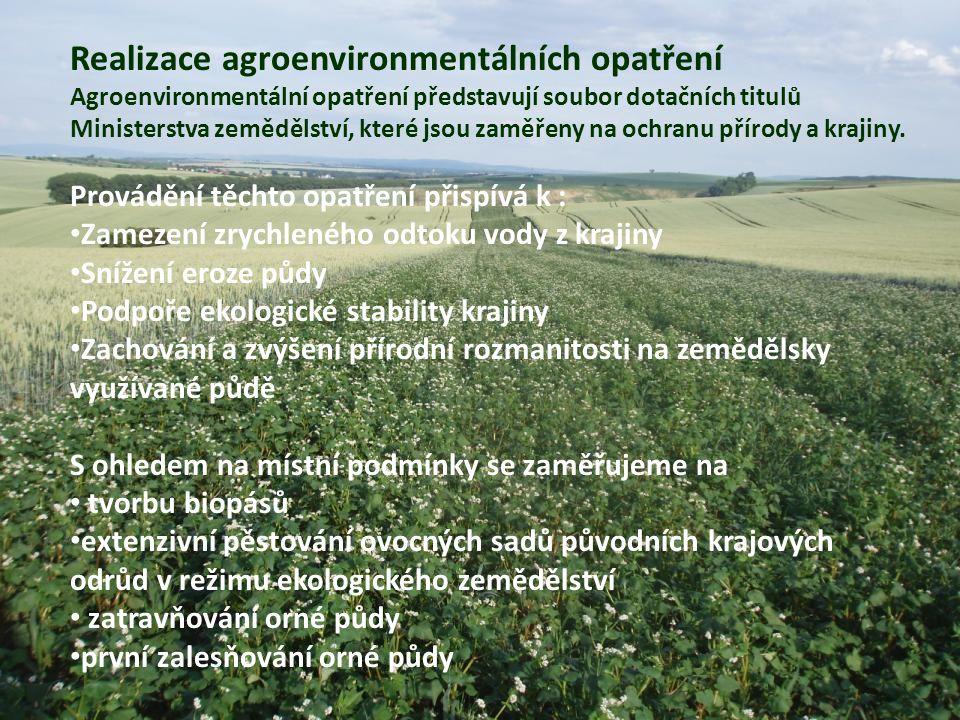 Realizace agroenvironmentálních opatření